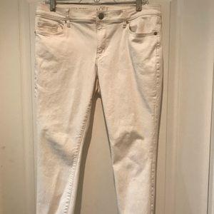 Ann Taylor Loft Off-White Ankle Jeans Size 12P